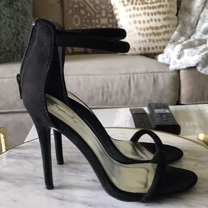 Shoes - Black strappy heels